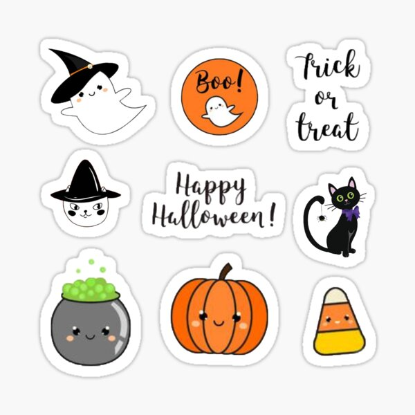 Cute Halloween sticker pack  Sticker