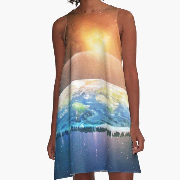 Flat Earth #FlatEarth A-Line Dress
