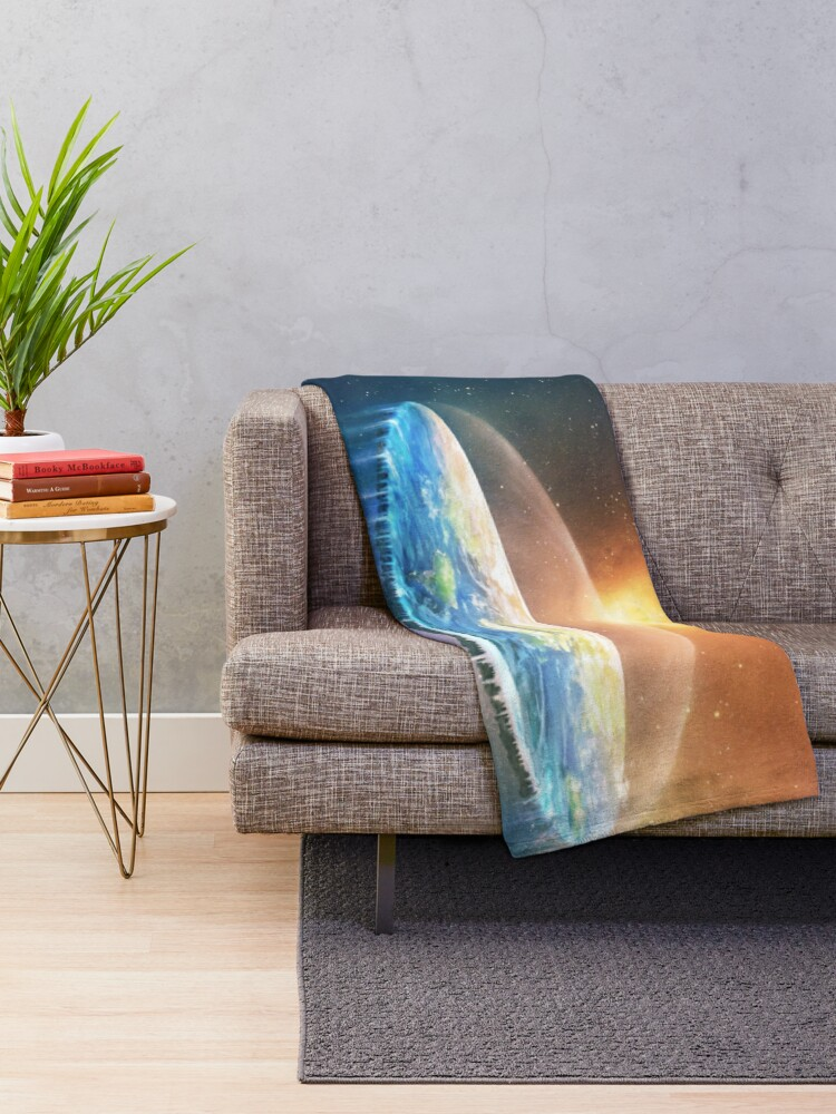 Alternate view of Flat Earth #FlatEarth Throw Blanket