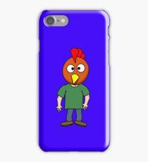 Crazy chicken dude cartoon graphic mens geek funny nerd iPhone Case/Skin