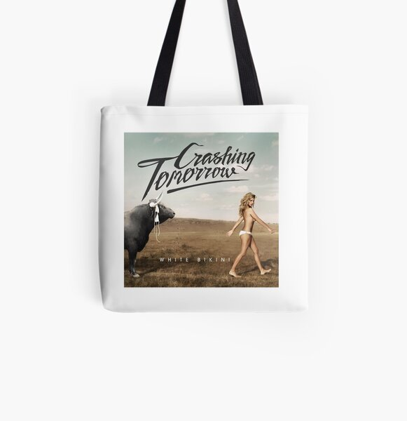White Bikini All Over Print Tote Bag