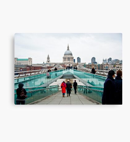 St Paul's Cathedral from Millennium Bridge. Canvas Print