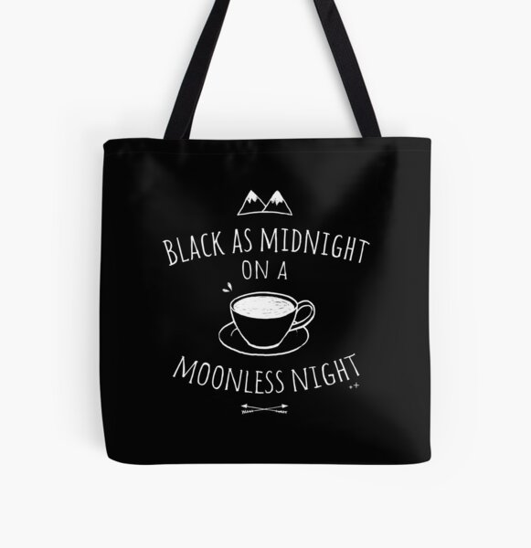 Black as Midnight All Over Print Tote Bag