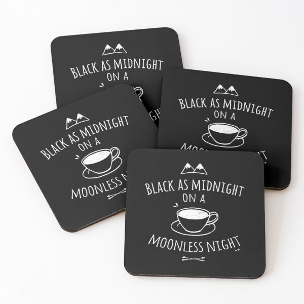 Black as Midnight Coasters (Set of 4)