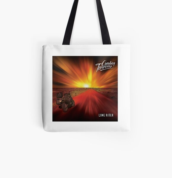 Lone Rider All Over Print Tote Bag