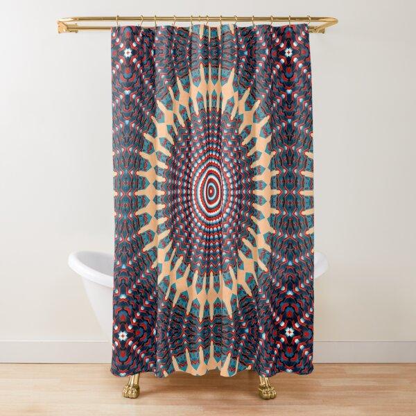 Kaleidoscope Architecture Manadala Building Pattern Shower Curtain