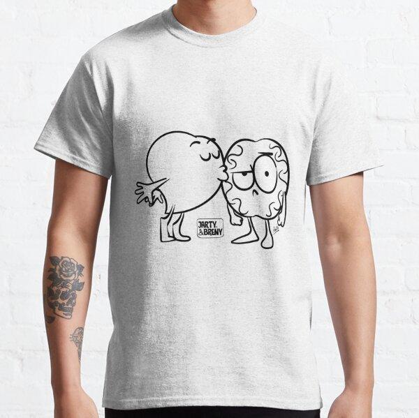 Beso en Blanco y negro Camiseta clásica