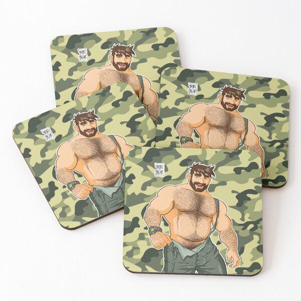 ADAM LIKES DUNGAREES - CAMOUFLAGE Coasters (Set of 4)