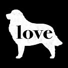 Great Pyrenees Dog Love - A Minimalist Distressed Vintage Style Design for Dog Lovers by traciwithani
