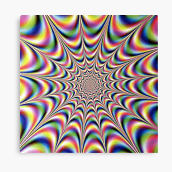 Optical illusion print Canvas Print