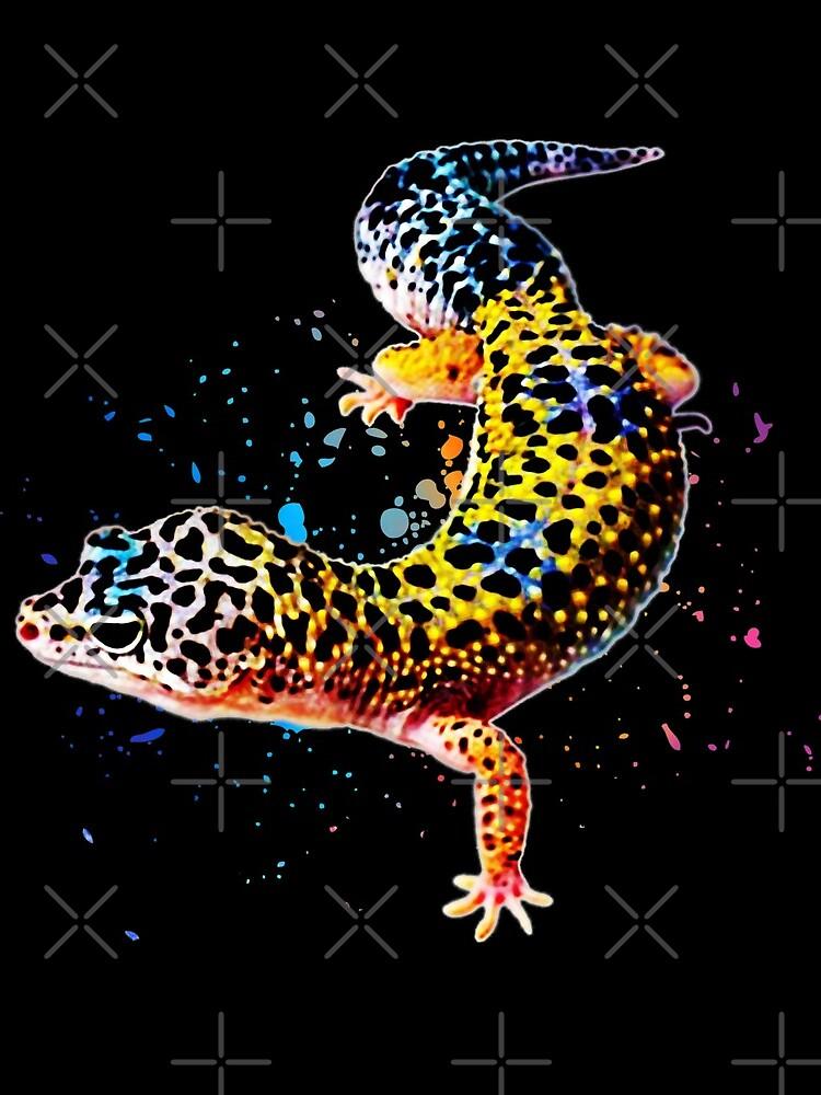 Leopard Gecko Reptile Keeper Lizard Watercolor by JRRTs