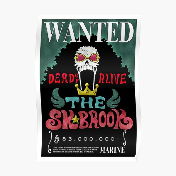 Brook Wanted - One Piece Poster
