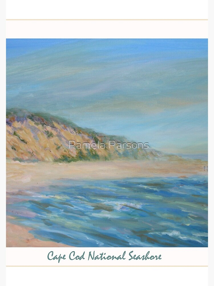 Cape Cod National Seashore. Oil painting of the unspoiled dunes and beach of Cape Cod. by parsonsp