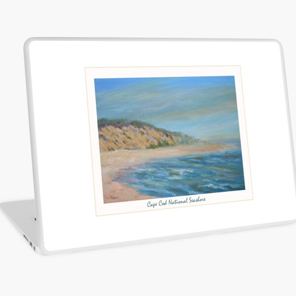 Cape Cod National Seashore. Oil painting of the unspoiled dunes and beach of Cape Cod. Laptop Skin