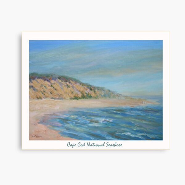 Cape Cod National Seashore. Oil painting of the unspoiled dunes and beach of Cape Cod. Canvas Print