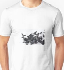 Pigeons in snow Unisex T-Shirt