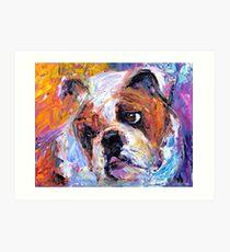 Bulldog dog painting Svetlana Novikova Art Print