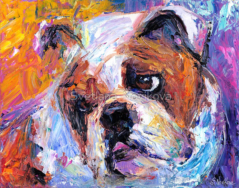 bulldog artwork quot bulldog dog painting svetlana novikova quot by svetlana 7256