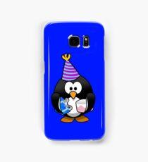 Personalized birthday card penguin geek funny nerd Samsung Galaxy Case/Skin
