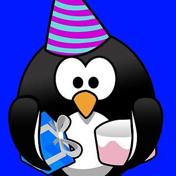 Personalized birthday card penguin geek funny nerd by jekonu