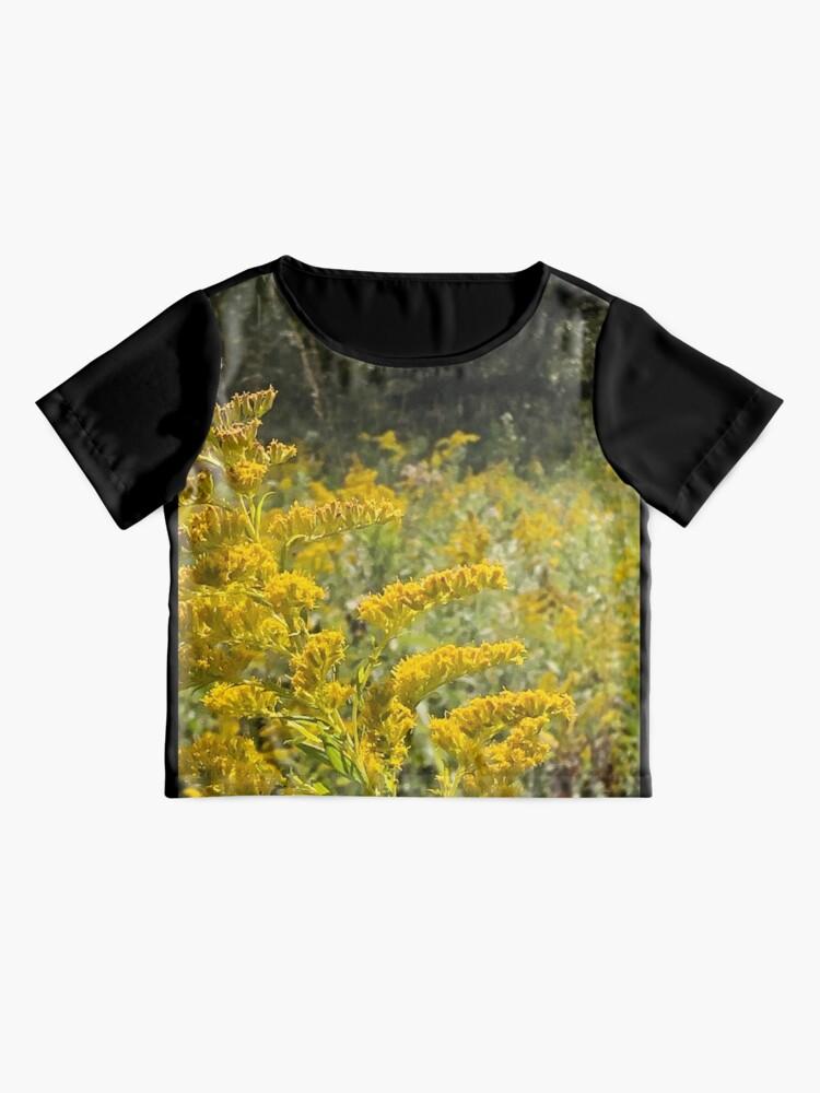 Alternate view of Yellow, Yellow flowers Chiffon Top