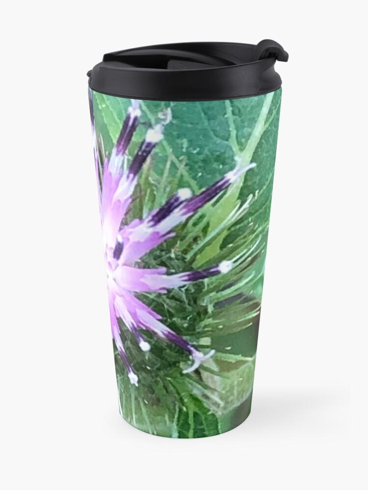 Alternate view of Purple flower, Flowers,  Travel Mug