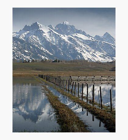 Grand Teton at Flood Stage Photographic Print