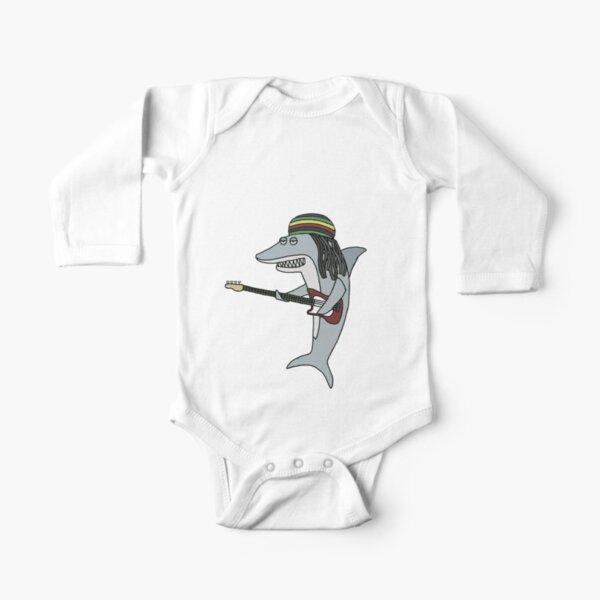 Reggae shark Long Sleeve Baby One-Piece