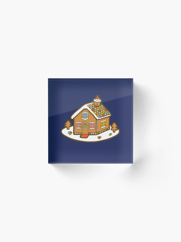 Alternate view of Gingerbread House Pattern - Christmas Eve Acrylic Block