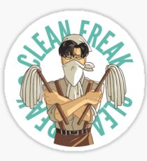 Levi button - Clean Freak Sticker