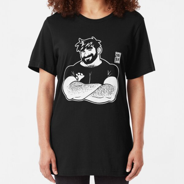 ADAM LIKES CROSSING ARMS - LINEART Slim Fit T-Shirt