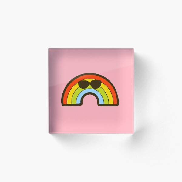 Cool Rainbow Pattern Acrylic Block