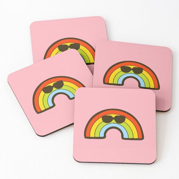 Cool Rainbow Pattern Coasters (Set of 4)