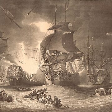 Battle Of The Nile 1798 L'orient In Flames by artfromthepast