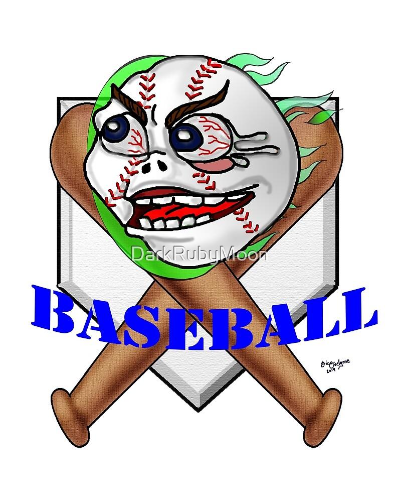 Screaming Baseball by DarkRubyMoon