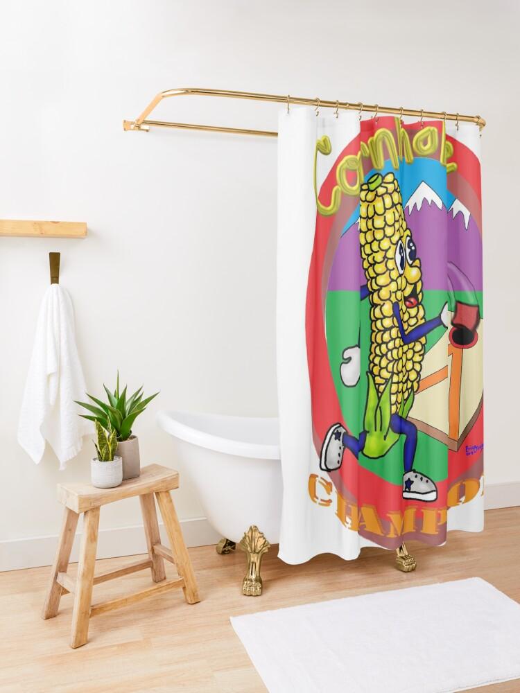 Alternate view of Cornhole Champion Shower Curtain