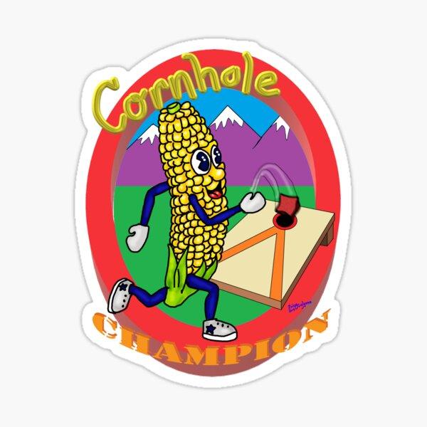 Cornhole Champion Sticker