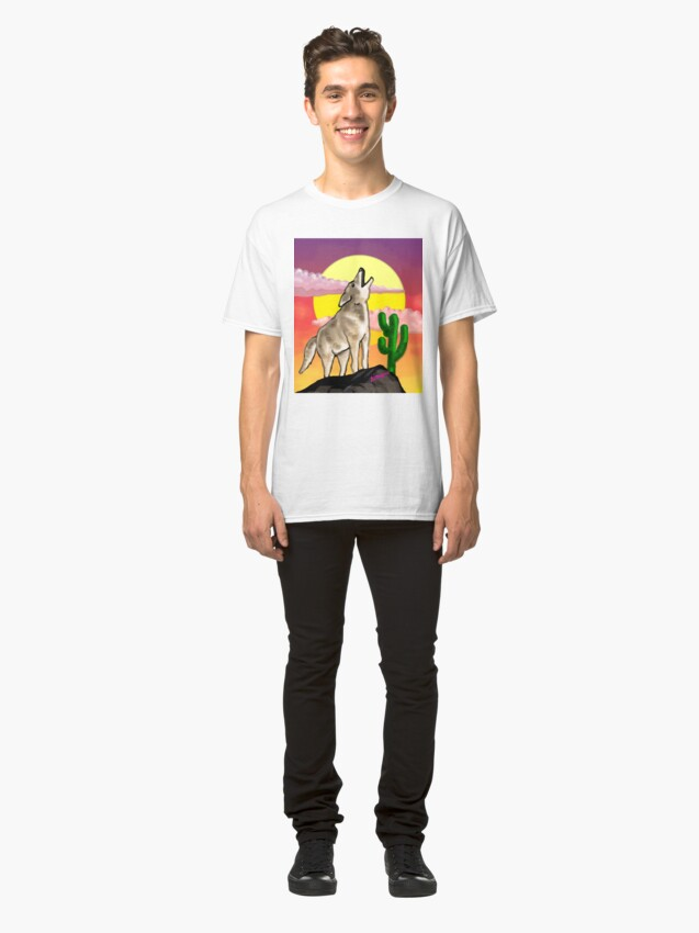 Alternate view of Coyote Sunset Version1 Classic T-Shirt