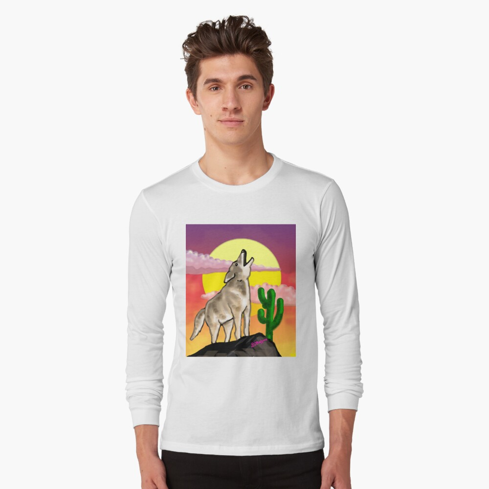 Coyote Sunset Version1 Long Sleeve T-Shirt