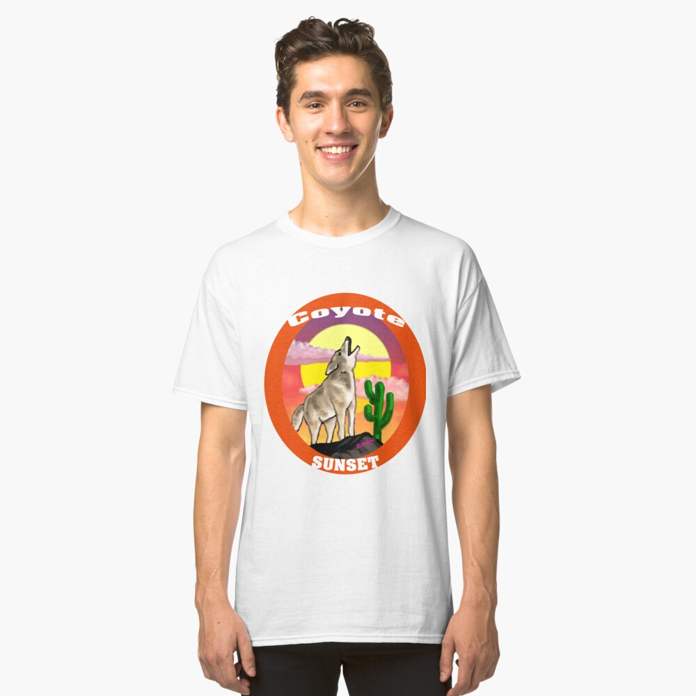 Coyote Sunset Version2 Classic T-Shirt