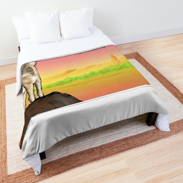 Coyote Sunset Version3 Comforter