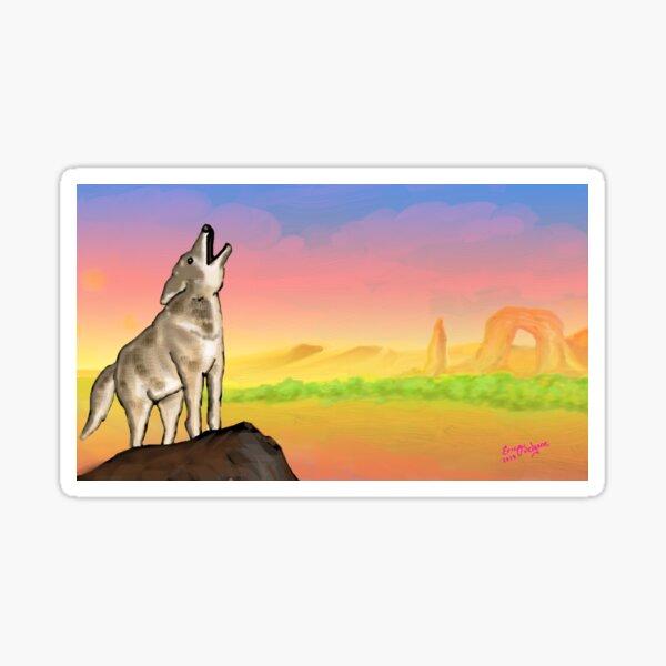 Coyote Sunset Version3 Sticker