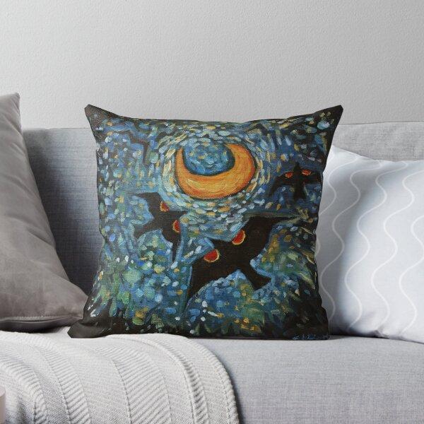 Redwing Moon Throw Pillow