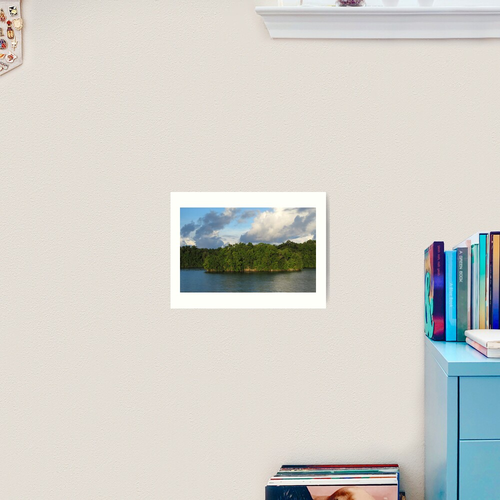 Islet at Marovo Lagoon Art Print