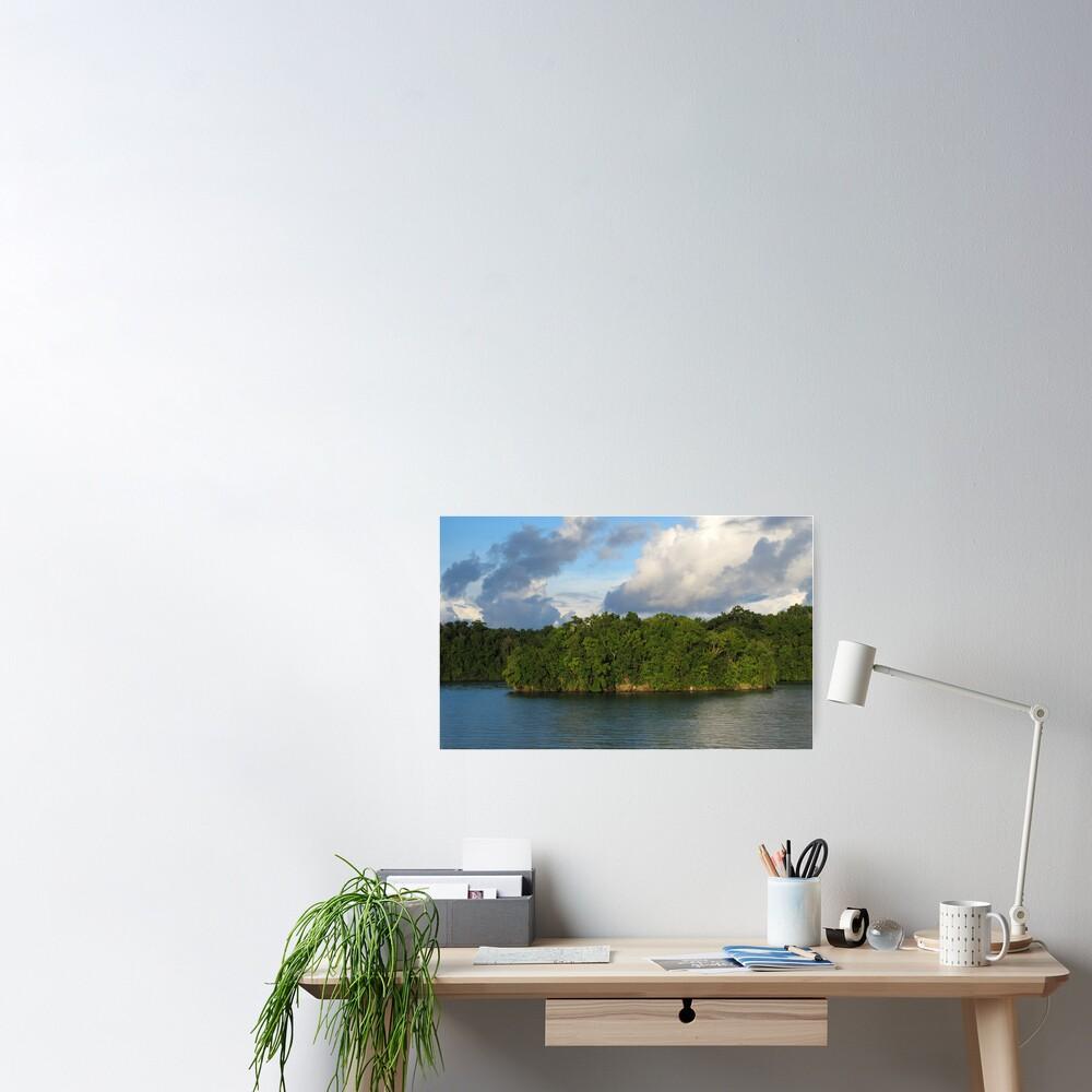 Islet at Marovo Lagoon Poster