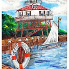 Drum point Lighthouse Calvert County Maryland by DarkRubyMoon