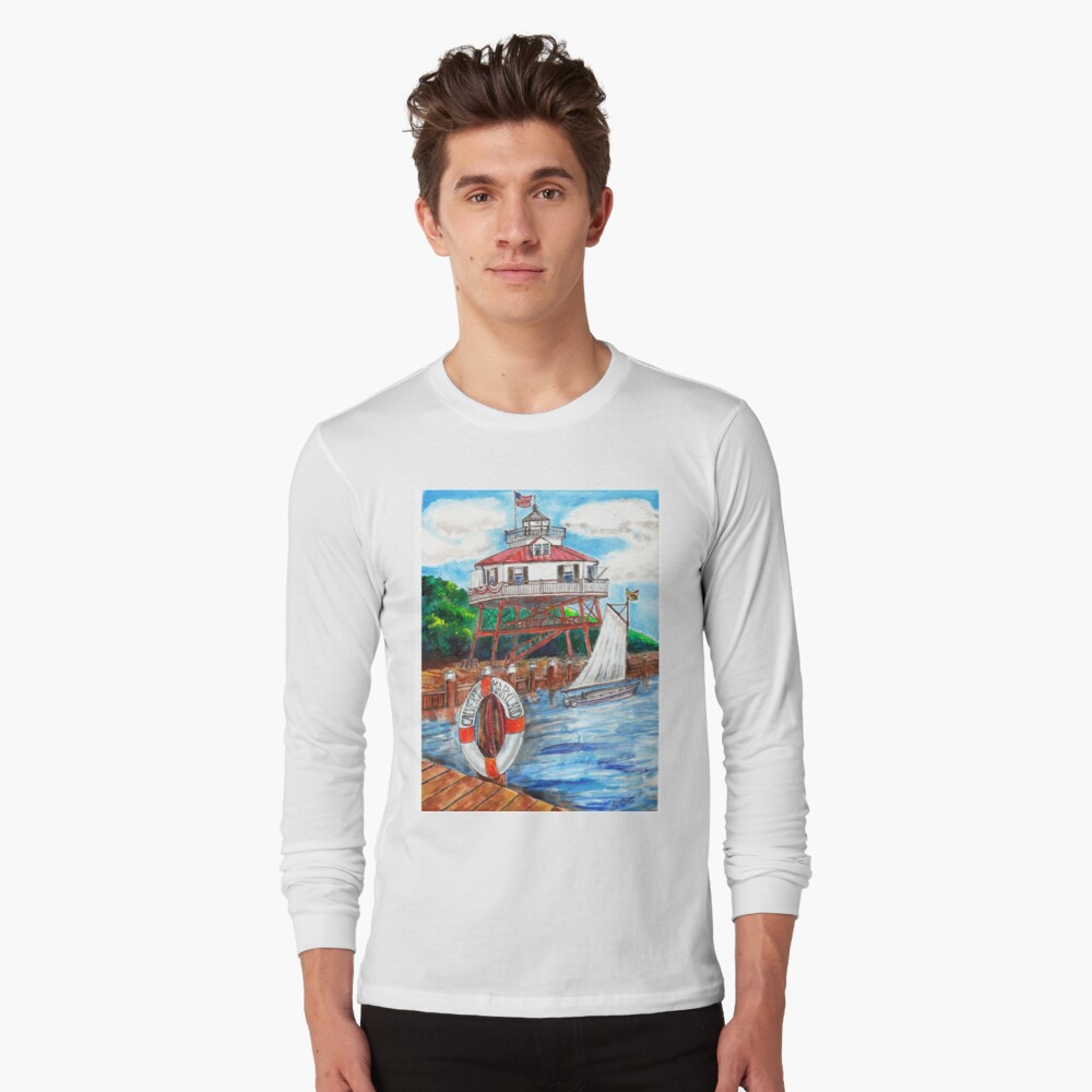 Drum point Lighthouse Calvert County Maryland Long Sleeve T-Shirt