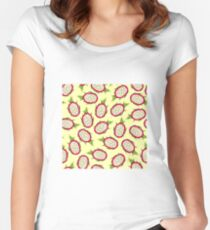 Dragon fruit on light background Fitted Scoop T-Shirt