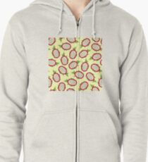 Dragon fruit on light background Zipped Hoodie