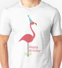 Pink lawn flamingo happy birthday to classy person geek funny nerd T-Shirt